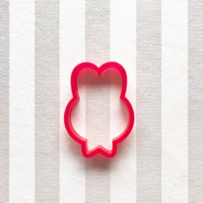 うさぎリボンのクッキーカッター(0037)