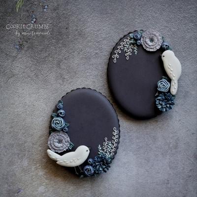 【Cookie Crumbs】細い小鳥ミニカッターセット(00266)