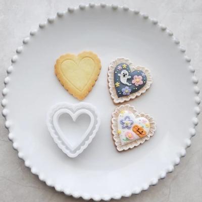 【ayari】フリルハート クッキーカッターセット(00273)