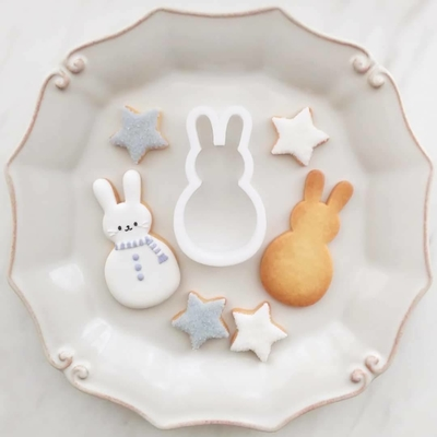【ayari】うさぎ雪だるま クッキーカッター(00285)