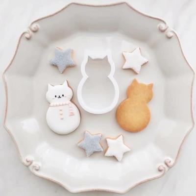 【ayari】ネコ雪だるま クッキーカッター(00285)