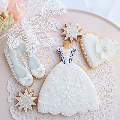 【Fancy Rosette】プリンセスライン ドレス クッキーカッター(00307)