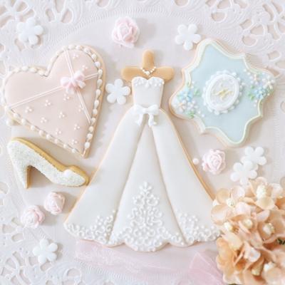 【Fancy Rosette】Aライン ドレス クッキーカッター(00307)