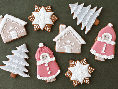 【JILL's original】クリスマスの女の子 クッキーカッター(00334)