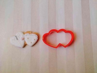 ダブルハートのクッキーカッター(0067)