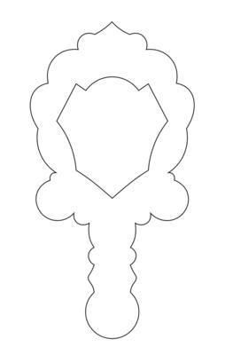 【YuyuCakes】ハンドミラー(フレーム#2) クッキーカッター(00339)