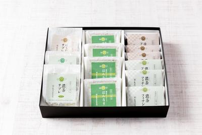 茶農家からの贈り物《濃茶チョコサンド・濃茶フィナンシェ・茎ほうじ茶フィナンシェ・濃茶サブレ》