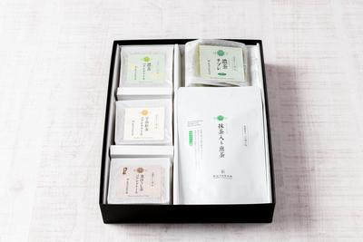 ギフトセット《濃茶パウンドケーキ・濃茶サブレ・抹茶入り煎茶ティーバッグ》