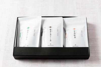 ギフトセット《抹茶入り煎茶ティーバッグ・碾茶の茎ほうじ茶ティーバッグ・宇治紅茶ティーバッグ》