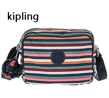 KIPLING/キプリング レディース ダブルファスナー ショルダーバッグ MULTI STRIPES