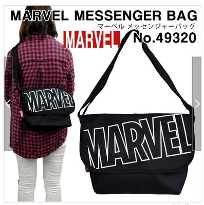 MARVEL メッセンジャーバッグ ショルダーバッグ マーベル ロゴ