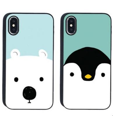 【iPhone XS/XR】ブラックケース スカンジナビアアニマル