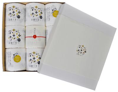 HR1002 白檀の香りギフトセット 9ロール (水引赤)