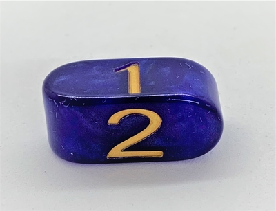 Infinity D4 Blue with Gold numbers - acrylic