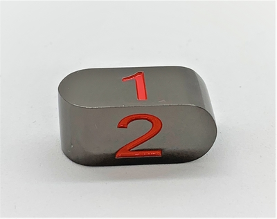 Infinity D4 Black with Red numbers