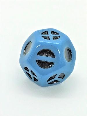 12面体形D4 青地に黒