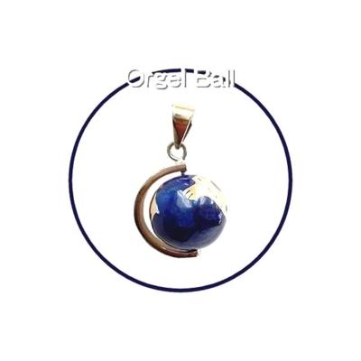 癒しの音色のハーモニー♪オルゴールボール地球儀ブルー