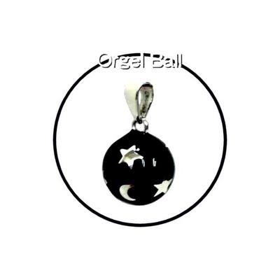 癒しの音色のハーモニー♪オルゴールボール月星ブラック