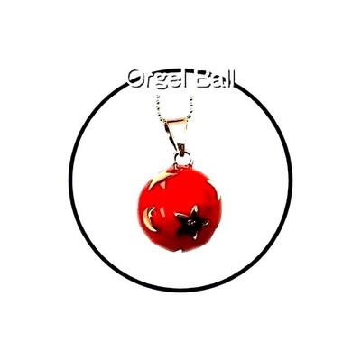 テレビドラマ登場!癒しの音色のハーモニー♪オルゴールボール月星レッド