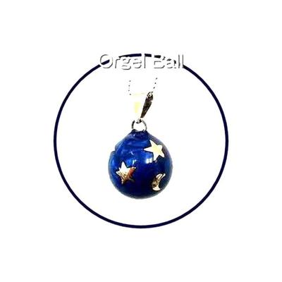 テレビドラマに登場!癒しの音色のハーモニー♪オルゴールボール月星ブルー