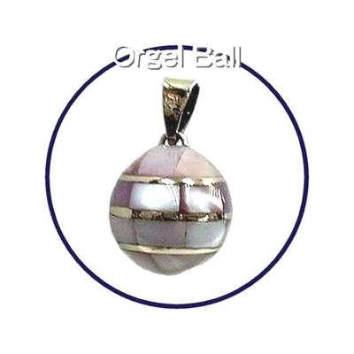 癒しの音色のハーモニー♪オルゴールボール貝殻ピンク