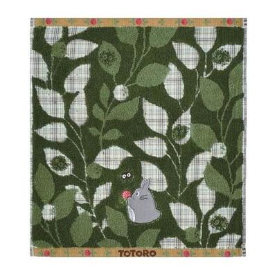 スタジオジブリ:となりのトトロタオルハンドタオル緑の蔦柄
