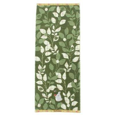 スタジオジブリ:となりのトトロタオルフェイスタオル緑の蔦柄