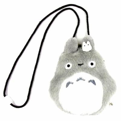 スタジオジブリ:となりのトトロぬいぐるみがま口ダイカット大トトロと小トトロ