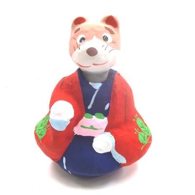 江戸千代紙の老舗「菊寿堂いせ辰」の張り子の2018干支「戌」女羽織