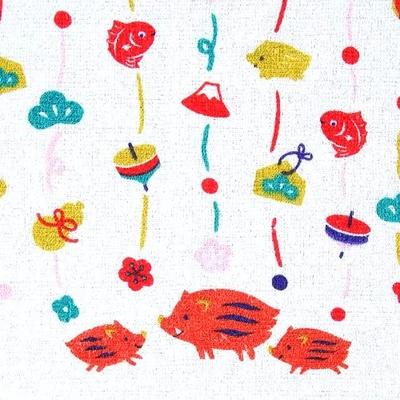 お年賀タオル飾り亥年賀熨斗付き