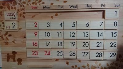 細川さん家の猫保護活動支援万年カレンダー(トイプードル)