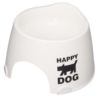 小型犬専用フードボウル すべり止め付 ホワイト