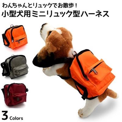 かわいいミニリュックでお出かけ♪  小型犬用ミニリュック型ハーネス