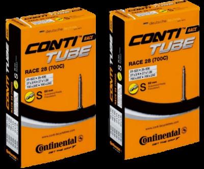 Continental(コンチネンタル) チューブ Race28 700×20-25C (仏式60mm) 2本セット 【並行輸入品】