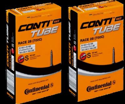 Continental(コンチネンタル) チューブ Race28 700×20-25C (仏式42mm) 2本セット 【並行輸入品】