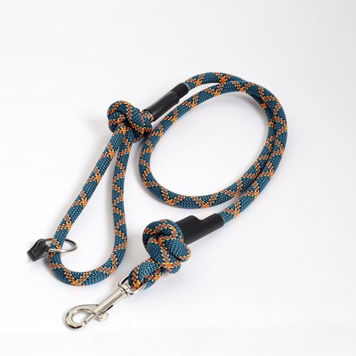 Cranbery クライミングロープ ドッグリード スナップフック/ ブルー×オレンジ