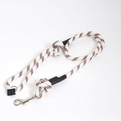 Cranbery クライミングロープ ドッグリード スナップフック / ホワイト×レッド×グリーン