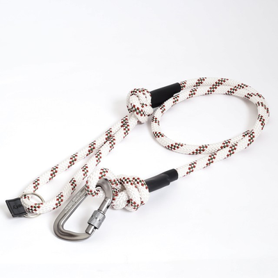 Cranbery クライミングロープ ドッグリード カラビナ/ホワイト×レッド×グリーン
