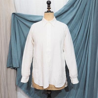 ジャンゴ アトゥール クラシック プレミアムリネン テイラーシャツ ナチュラルホワイト