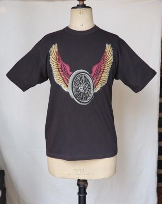 """フリーホイーラーズ Tシャツ    """"フリーダム""""  JET BLACK    Sサイズ"""