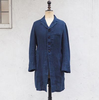 ジャンゴアトゥール アナザーライン リネン コート 藍 Sサイズ