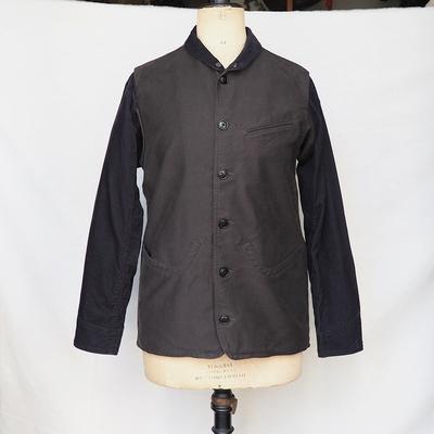 ジャンゴアトゥール モールスキン ハンター ジャケット charcoal x black Sサイズ
