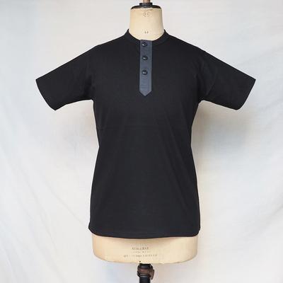 ジャンゴアトゥール スリーボタン ヘンリーネック 半袖 Tシャツ black