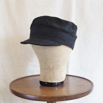 ジャンゴアトゥール アイリッシュワーク リネンキャップ black サイズ1(約57cm)
