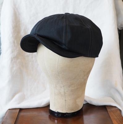 フリーホイーラーズ ディラン 1940s スタイル キャスケット ブラック ヘリンボーン ツィル