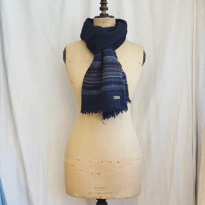 ダッパーズ Process Woolen Scarf by V.FRAAS LOT1144 NAVY×BLUE(STRIPE)