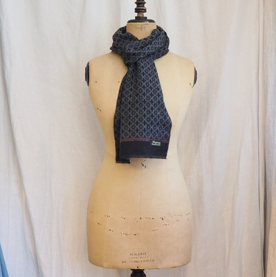ダッパーズ Cashmink Scarf by V.FRAAS LOT1143 GRAY/BLACK(KOMON)