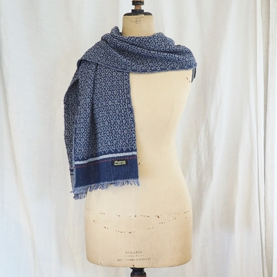 ダッパーズ Process Woolen Scarf by V.FRAAS LOT1211 NAVY(KOMON)