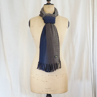 ダッパーズ Russell Knitting Woolen Scarf by V.FRAAS LOT1212 BLUE(GRADATION)