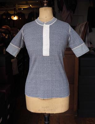 アジャスタブルコスチューム フライスニット S/S ヘンリーネック   Tシャツ アッシュグレイ